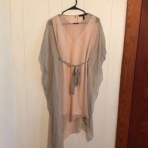Bcbgmaxazria Suzy Striped Silk Dress